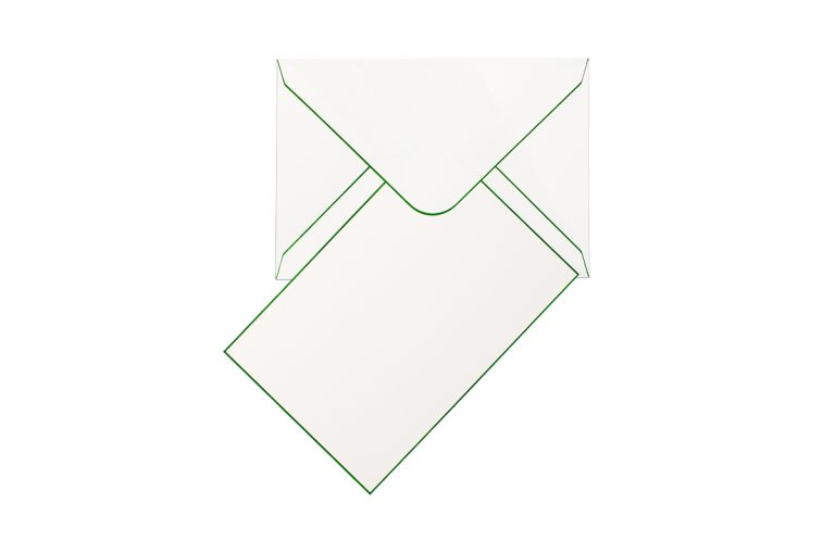 Funky Colours Cards & Envelopes - Kelly Green