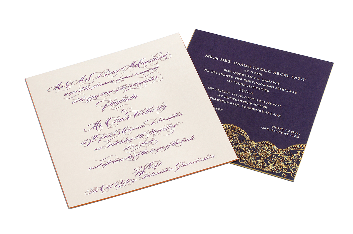 Wedding Invitations - Grosvenor Stationery Company